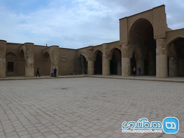 تاریخانه، معماری ساسانی در بنای اسلامی