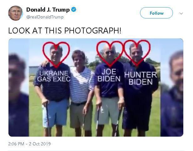 ترامپ تصویری جنجالی از بایدن و پسرش منتشر کرد